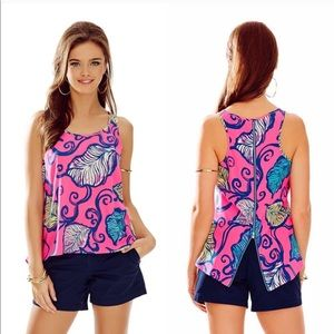 Lilly Pulitzer Leaves in the Breeze Aerial Top